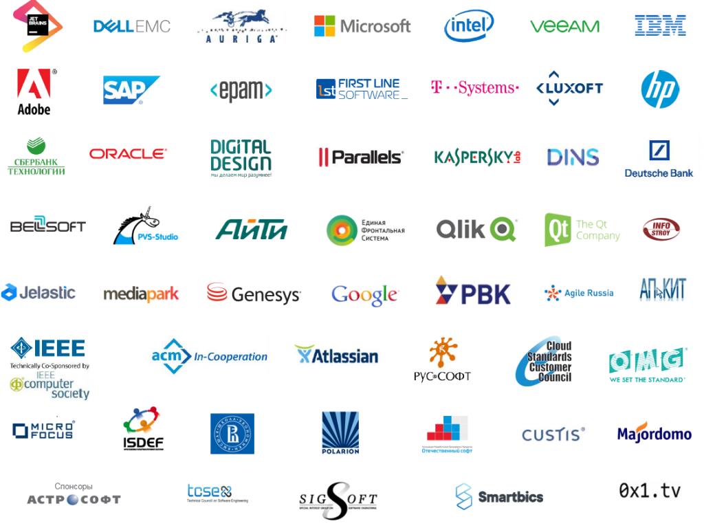 SECR partners logos 2011-2019|логотипы спонсоров конференции 2011-2019